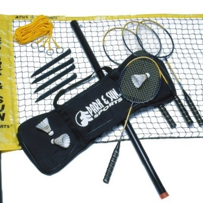 Karissa bradley blueprint registry park sun sports portable indooroutdoor badminton net system with carrying bag and accessories malvernweather Images