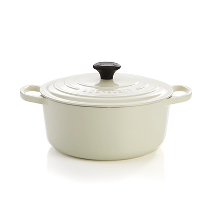 Le Creuset 5.5 qt. Round Cream French Oven with Lid