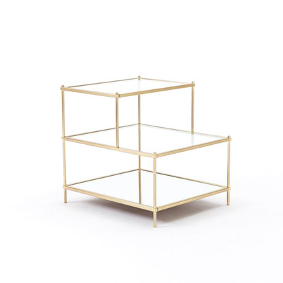 Terrace Side Table - Antique Brass