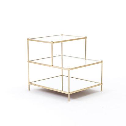 Terrace Side Table - Antique Brass