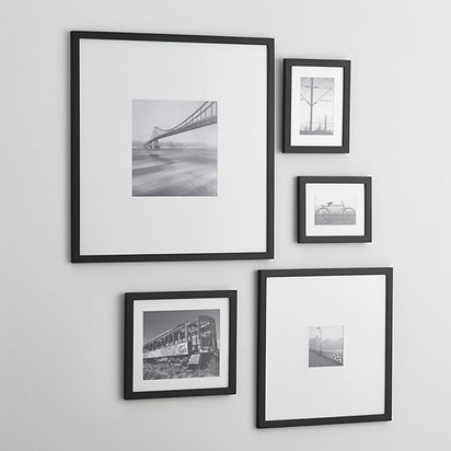 5-Piece Matte Black Frame Set