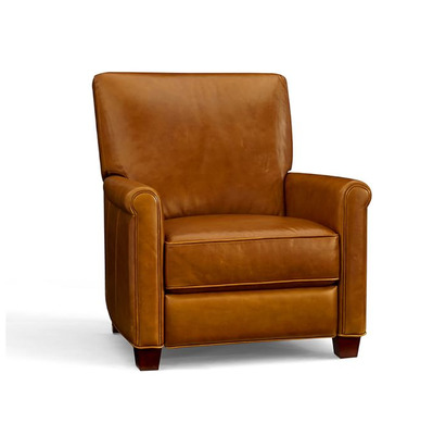 Irving Leather Recliner - Chestnut