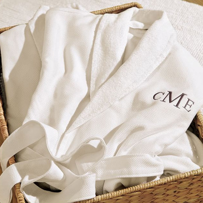 Organic Spa Robe - Medium, White