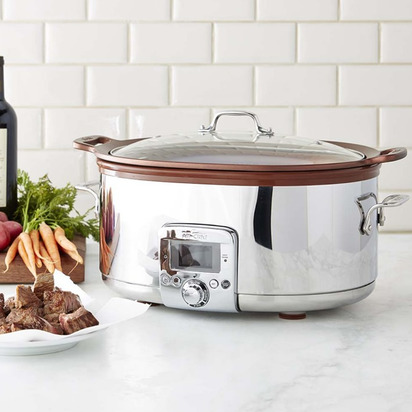 All-Clad Gourmet Slow Cooker with All-In One Browning - 7-Qt.