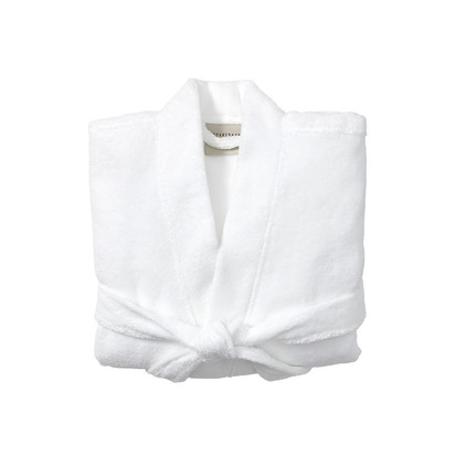 PB Classic Terry Robe, Small, White
