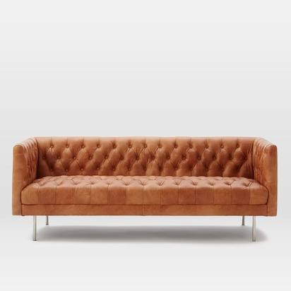 Modern Chesterfield Leather Sofa - Sienna