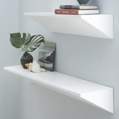 Floating Wedge Shelf - White - 3'