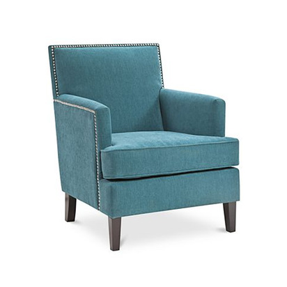 Kendall Fabric Accent Chair - Deep Peacock Blue