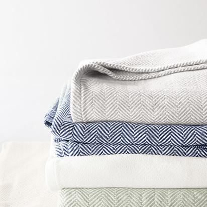 Brahms Mount Herringbone Bed Blanket
