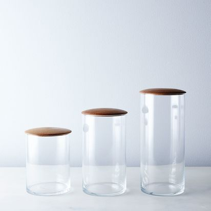 Glass & Oak Simple Storage Containers - Set of 3