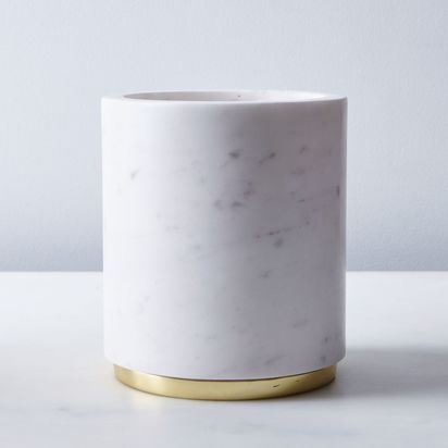 Marble & Metal Canister - Large, Brass