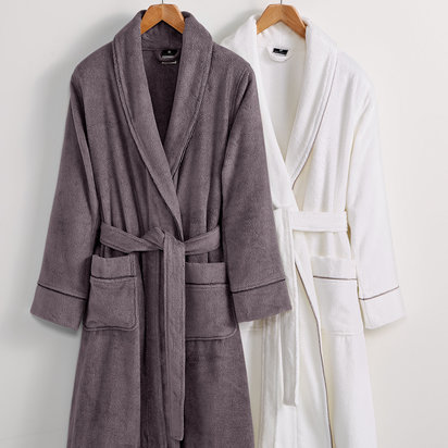 Hotel Collection Finest Modal Robe, Luxury Turkish Cotton, Only at Macy's - S/M , Slate