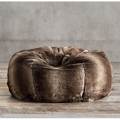 Sarah justin blueprint registry luxe faux fur bean bag mink malvernweather Gallery
