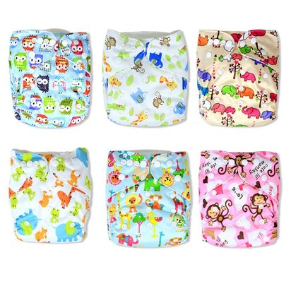 InnooBaby Premium Baby Cloth Pocket 6 All-in-One Diapers