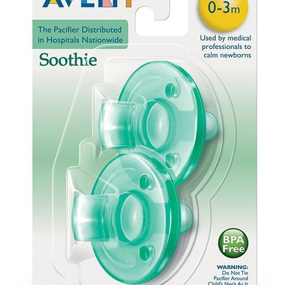 Philips Avent SCF190/01 Soothie 0-3mth Green/Green, 2pk - Pacifier, Green