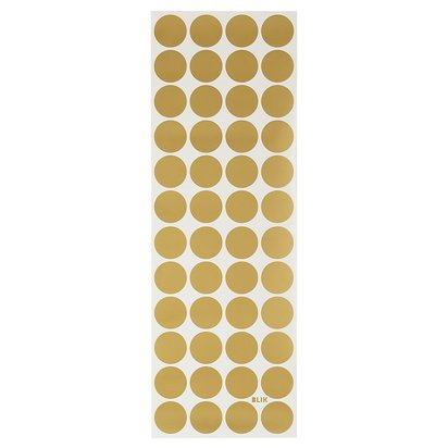 Lottie Dots Gold Metallic Decal - Gold