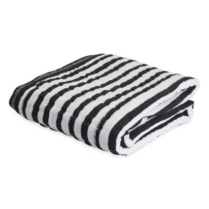 Cotton Muslin Quilt - Ink Stripe