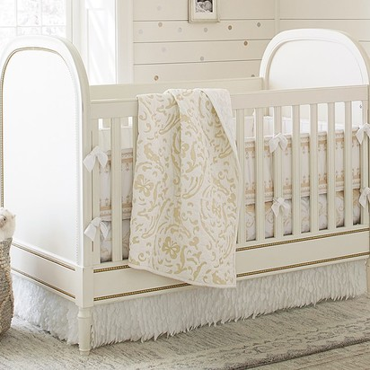 Zoey Crib - Vintage Simply White