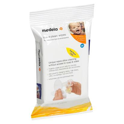 Medela Quick Clean Breast Pump & Accessory Wipes - 24ct