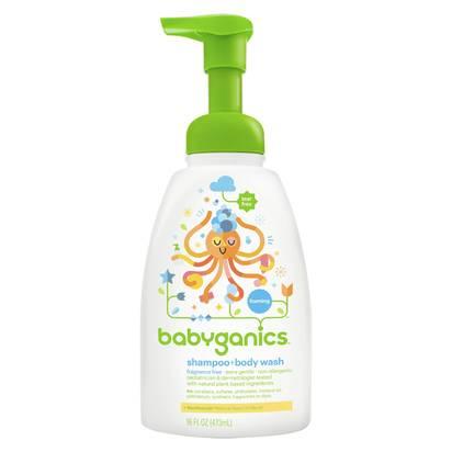 Babyganics Baby Shampoo + Body WashFragrance Free - 16oz Pump Bottle