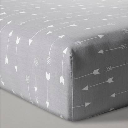 Fitted Crib Sheet Arrows - Cloud Island™ - Gray