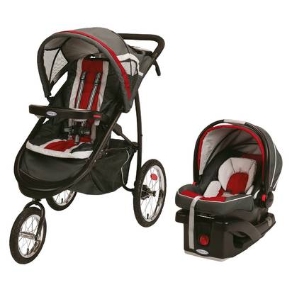 Graco® FastAction® Jogger Click Connect™ Travel System - Chili Red