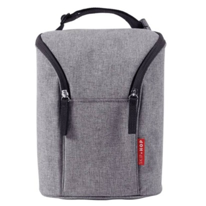 Grab & Go' Double Bottle Bag - Grey
