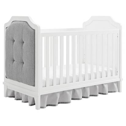 Baby Relax Luna 3-in-1 Upholstered Crib - White