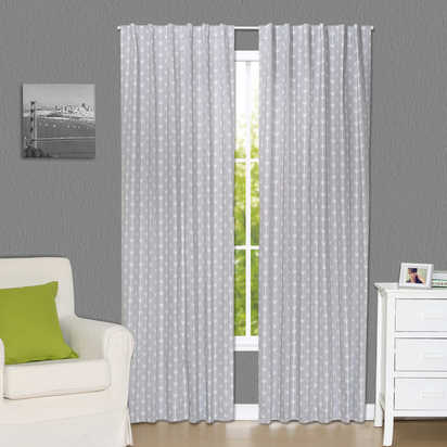 The Peanut Shell® Arrows Blackout Window Curtain Panel Pair in Grey