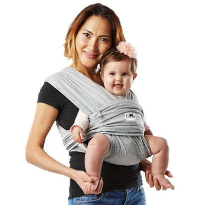 Baby K'tan® Baby Carrier in Heather Grey