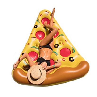 Floatie Kings: Inflatable Pizza Pool Float, Extra Large with Cup Holders