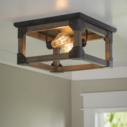 Sarah justin blueprint registry shelbie 2 light ceiling flush mount malvernweather Gallery