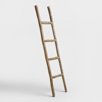 Wood Ladder Decor