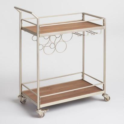Metal And Wood Geneva Bar Cart