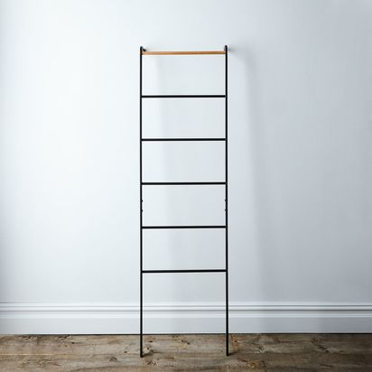 Steel & Wood Leaning Ladder - Black