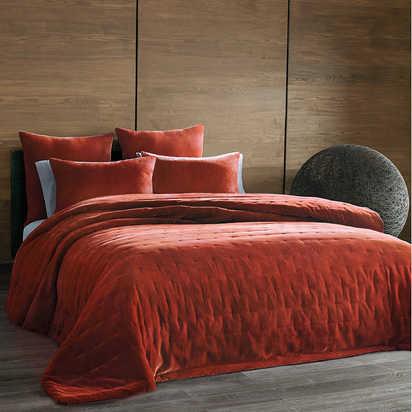 Cirrus Coverlet in Burnt Orange - Full/Queen