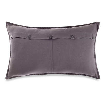 Kenneth Cole Reaction Home Mineral Button Oblong Throw Pillow - Orchid