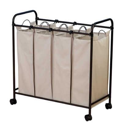 Household Essentials¨ Rolling Quad Laundry Sorter