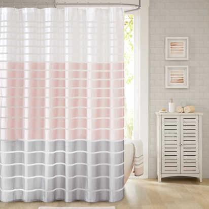 Demi Shower Curtain Blush - 72'' x 84'', Blush