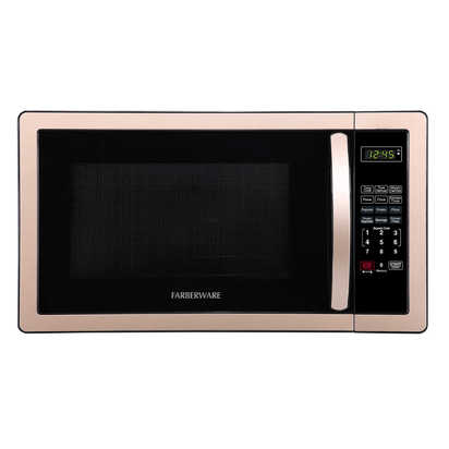 Farberware¨ Classic 1.1 Cubic Foot Microwave Oven in Copper/Black