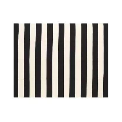 Olin Black Striped Cotton Dhurrie 8'x10' Rug