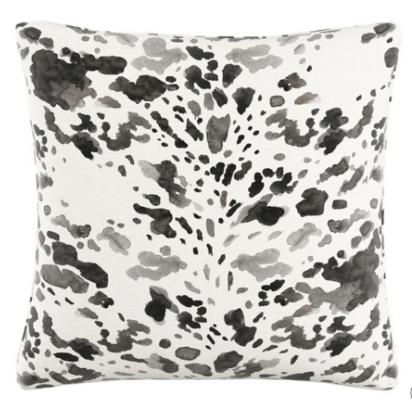 Black /White Cow Polyester Throw Pillow (20