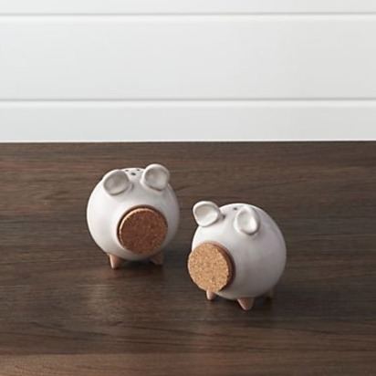 Oink Salt and Pepper Shakers, Set of 2