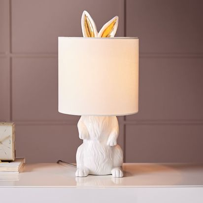 Ceramic Nature Rabbit Table Lamp