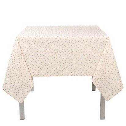 Gala 100% Cotton Tablecloth - Ivory & Gold