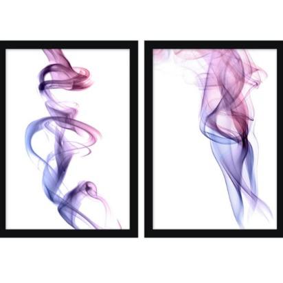 Lilac Smoke Framed Prints